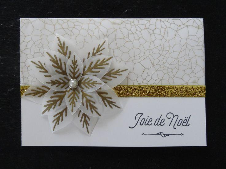 Carte Joie De Noel StampinUp Papier Vlin Design Magie