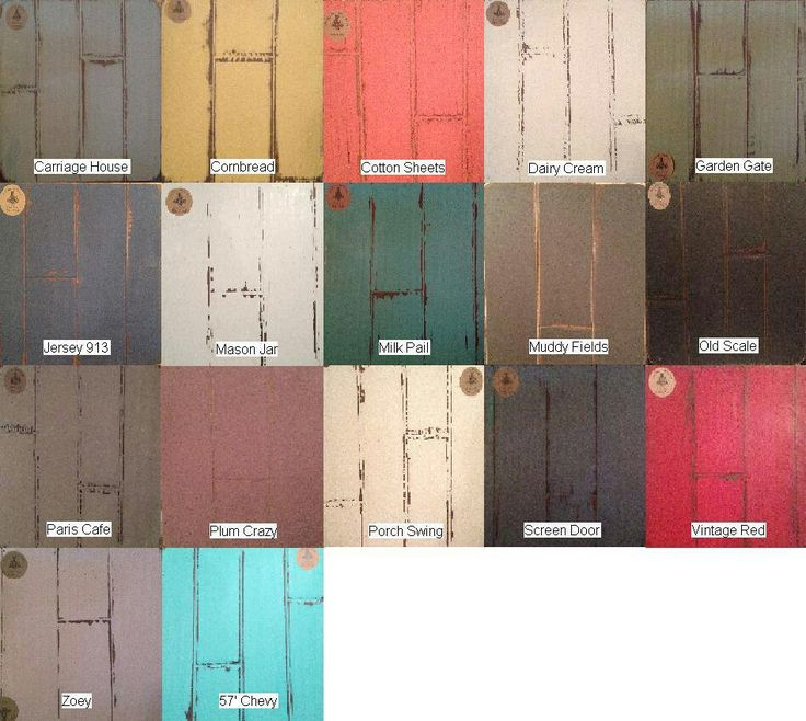 Vintage Farmhouse Chalk Paint Colors Furniture And