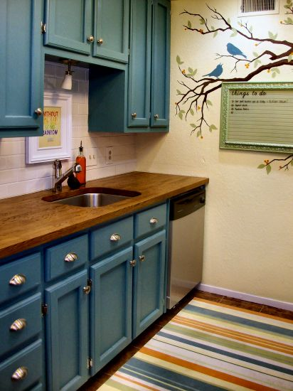 Teal Kitchen Cabinets Turquoise