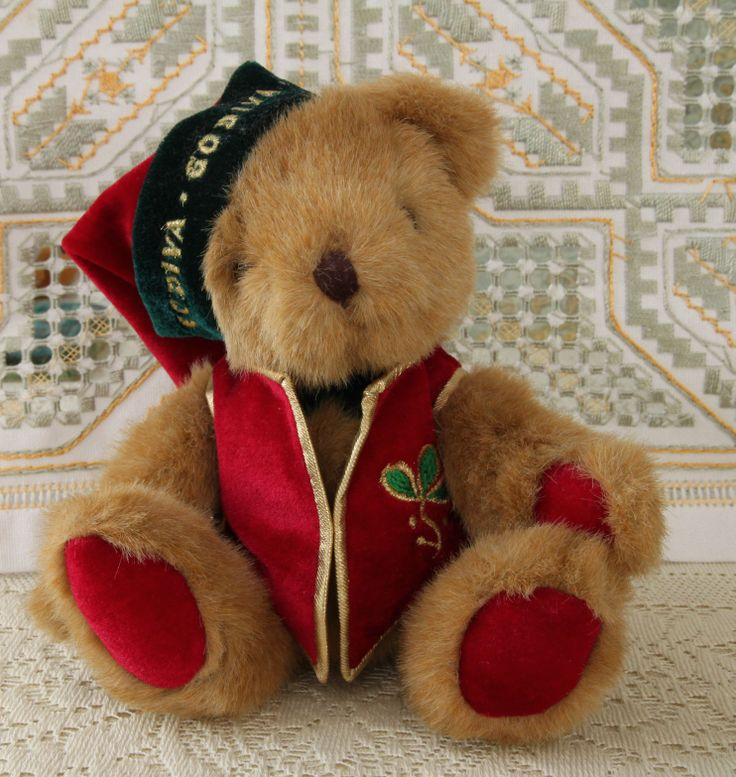 Godiva Teddy Bear Fully Jointed Antiques And