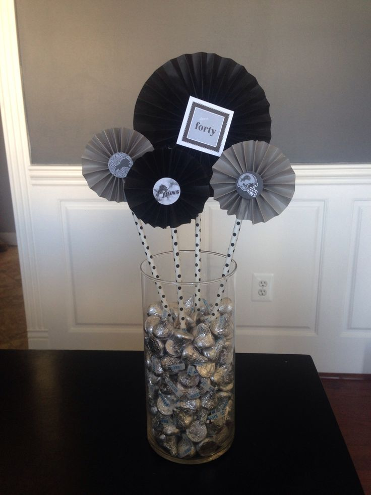 Image Result For Center Pieces For A Mans Birthday Party