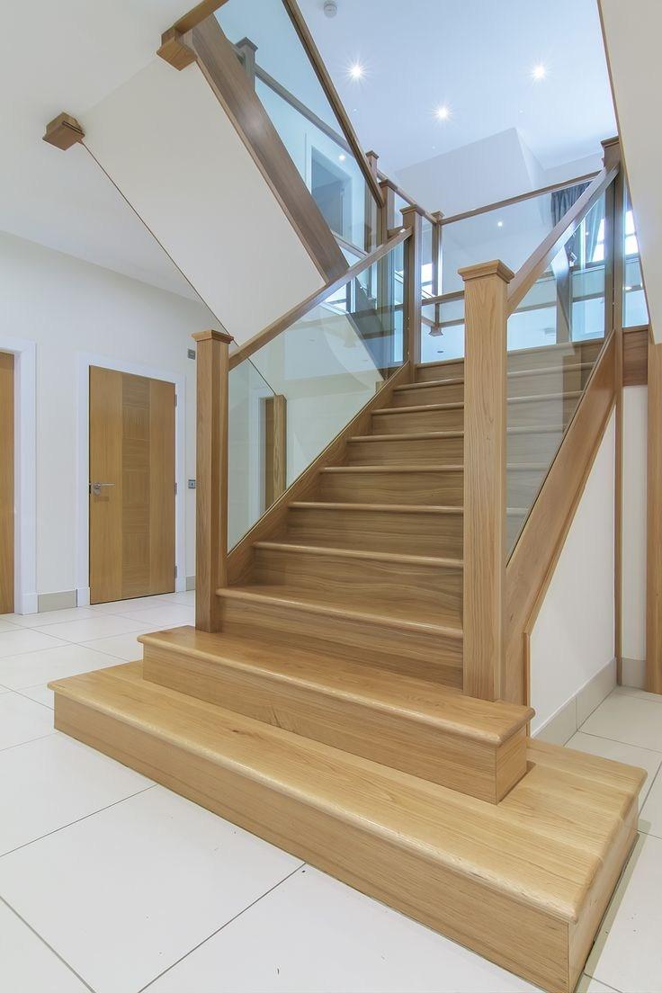 Www Stockwell Ltd Co Uk American White Oak 3 Part Dogleg | White Oak Stair Railing