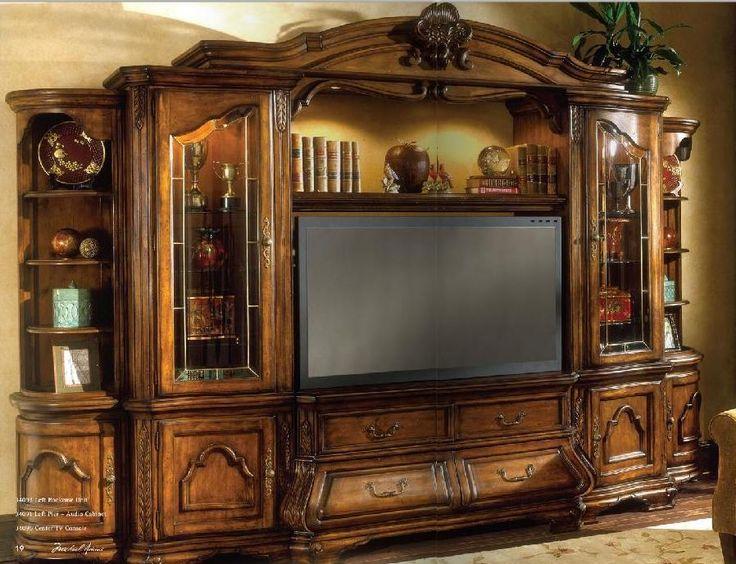 Aico Furniture Tuscano 4 Piece Entertainment Wall Unit