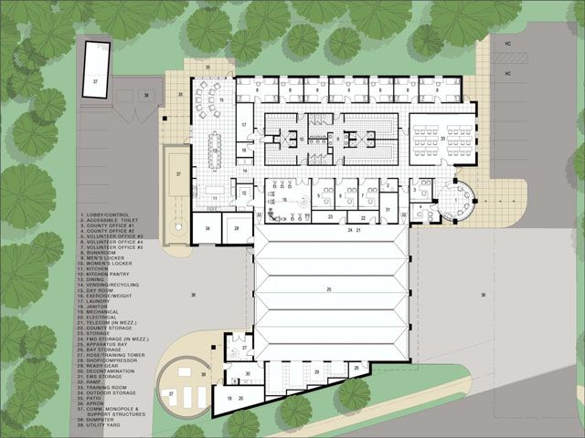 Fire Station Architectural Site Plan