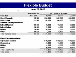Flexible Manufacturer Budget Template It Is Mostly Used By Manufacturing Companies And