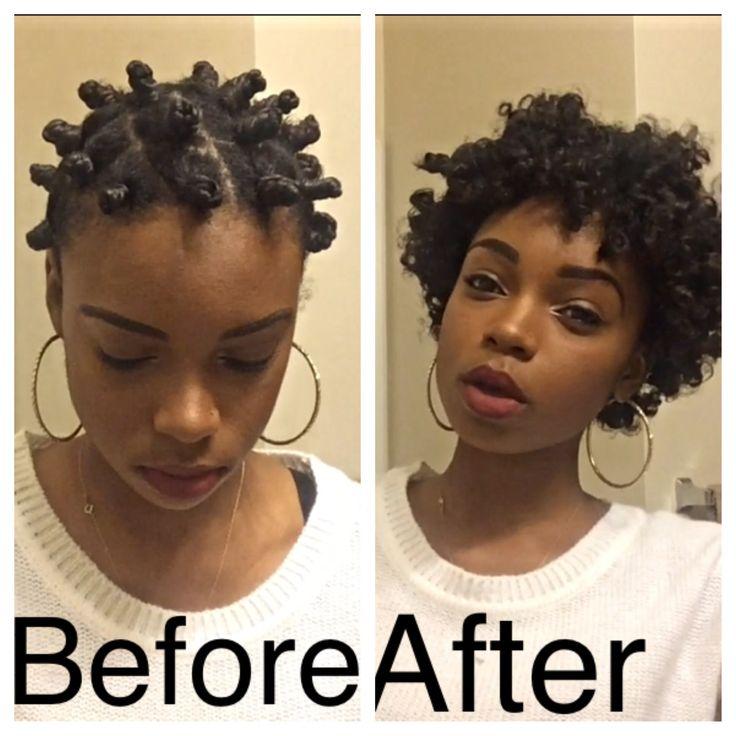 Short Hair Bantu Knot Out Natural Hair Pinterest
