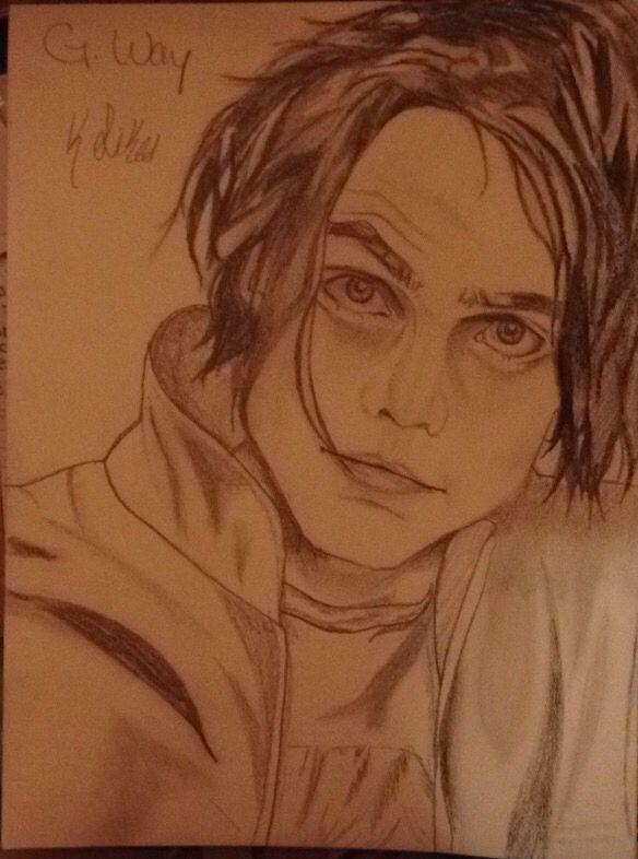 Pencil drawing of Gerard Way, lead singer of MCR. My ...