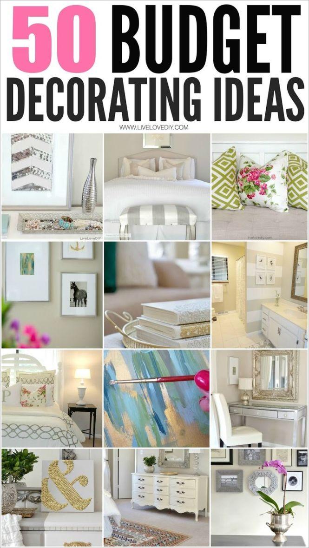 50 Budget Decorating Tips Everyone Should Know I Especially Love 4 Decoratingapartments Decoratingbedroom Ideasdecor