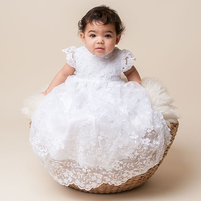 Lily Christening Gown (Girl) | Cotton Baptism Outfits & Dresses