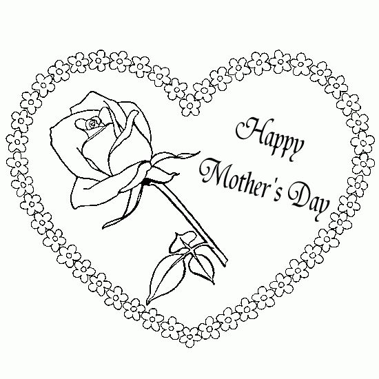 Hearts And Roses Coloring Pages   ... pictures - Picture ...
