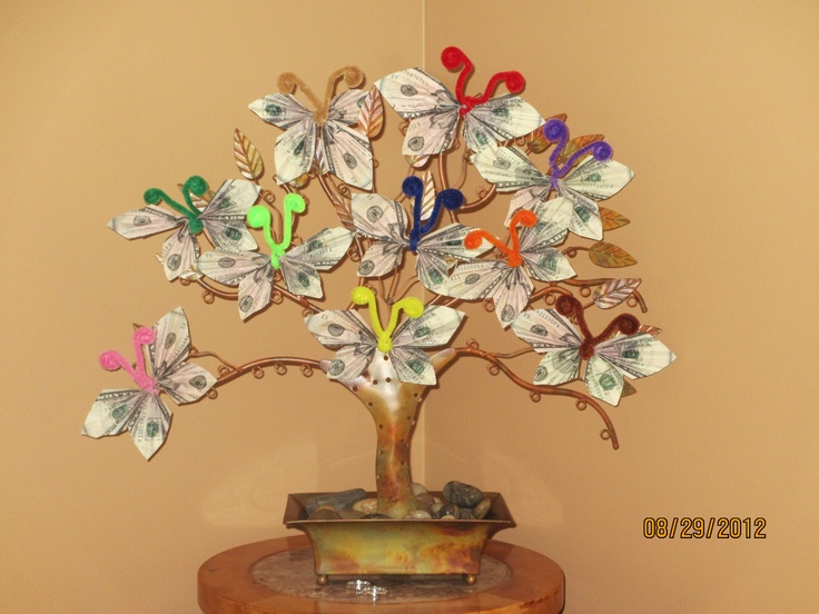 Money Tree A Gift For My Mothers 80th Birthday Gifts Pinterest Trees Mothers And Money