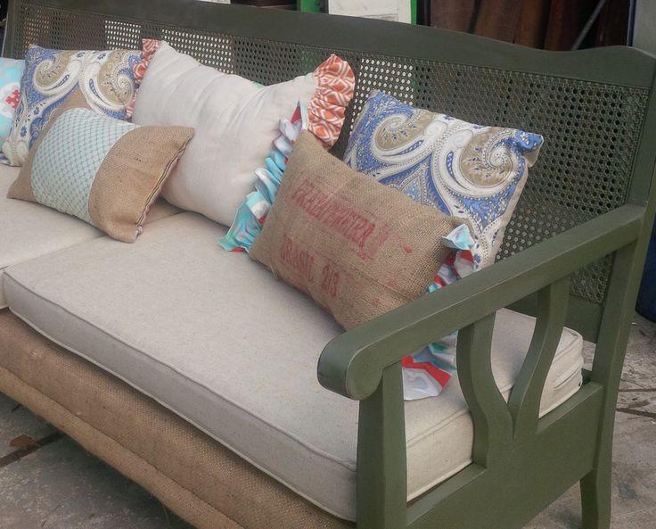 Antique Cane Back Sofa My ReFurbs Farmhouse Chic