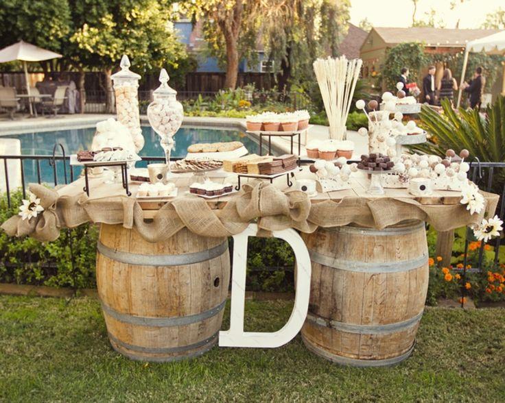 DIY Rustic Wedding Ideas | … table, vintage, wedding, rustic, wed, California)