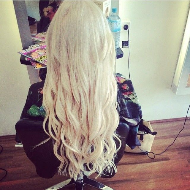 Zala Tape Hair Extensions In Ice Queen Platinum Blonde