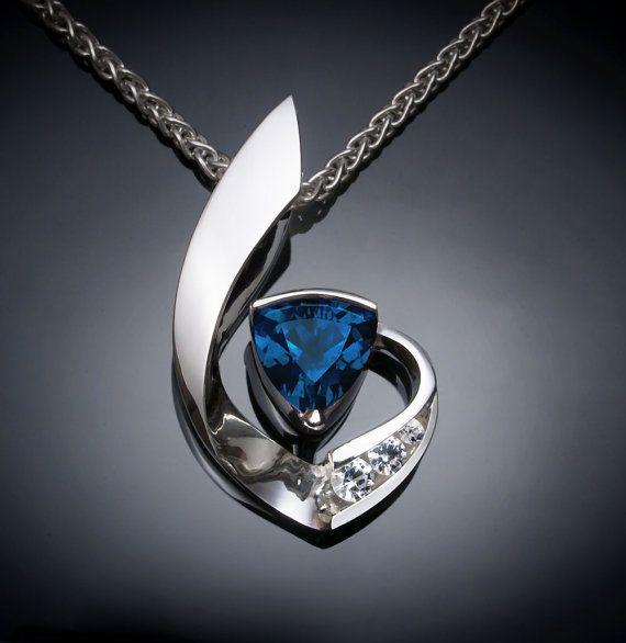 blue topaz necklace  London