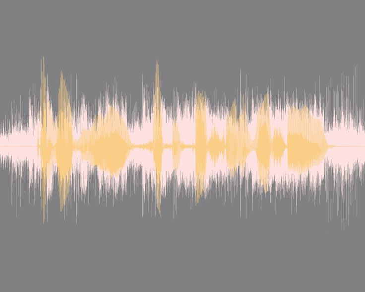 Sound Wave Art Voice Message Overlapping A Song Sonic