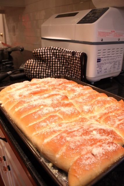 Bread Sticks- MADE THESE- they were AMAZING brushed with butter and sprinkled with granulated