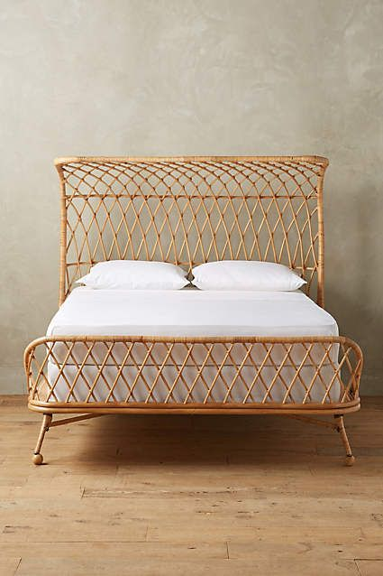 Curved Rattan Bed Guest Rooms Anthropologie And Rattan