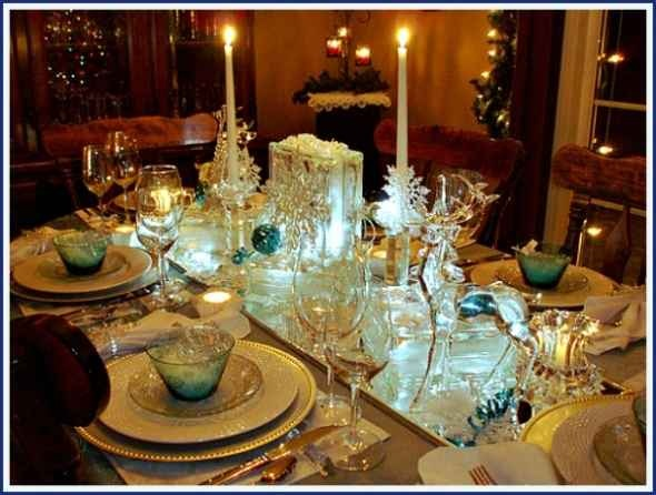 Snowflakes & Ice Christmas Tablescape