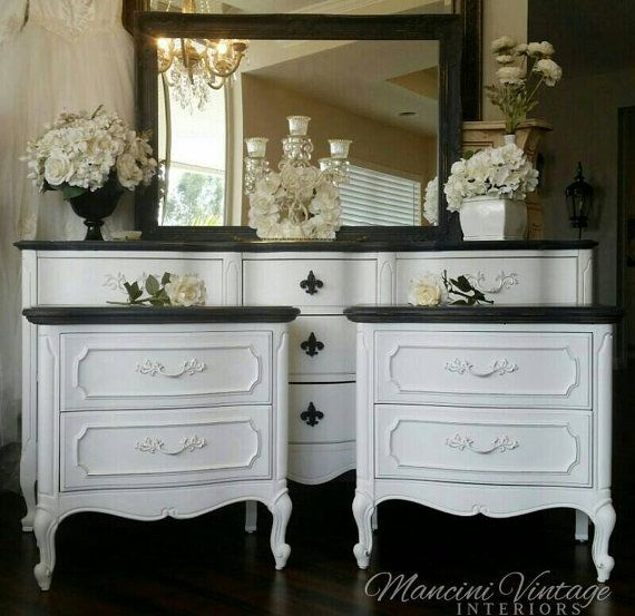French Provincial By Mancinivintage Black And White Furniture Bedroomfrench
