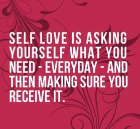 Been asking myself every morning what it is that I need...allowing myself to do things for me and not just for others. I'm all about self love these days... My advice: give yourself some lovin! Xoxo @LunaKrick: