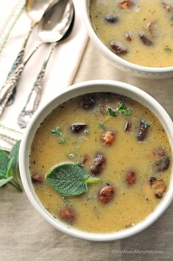 Using a healthy pureed white bean and broth base instead of cream, this White Bean