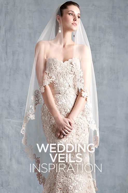 """Does anything truly say """"bride"""" like a wedding veil? Check out this gallery of various wedding veil inspiration."""