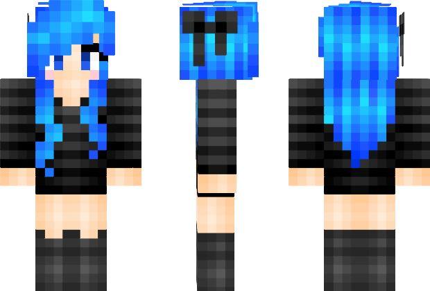 Skins Minecraft Hair Girl Orange