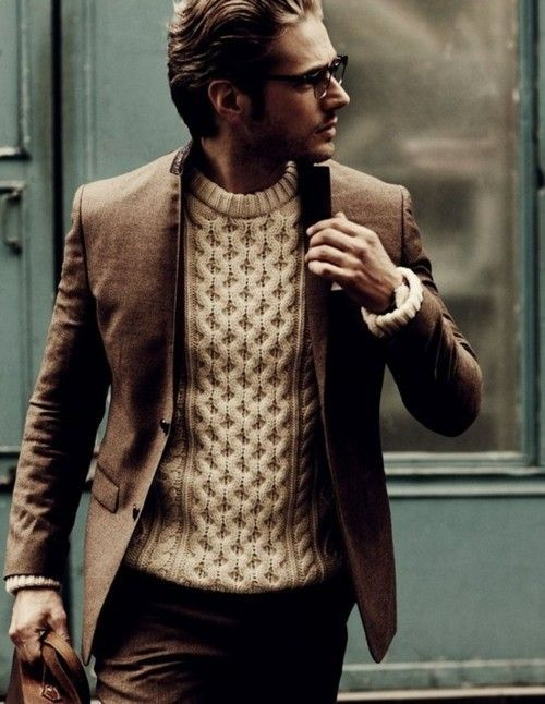 I dont wear sweaters but Id do this with a henley.