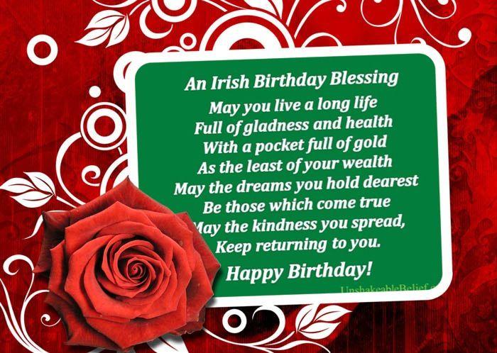Irish Birthday Blessing Wishing WordsBirthdays Pinterest Birthdays Birthday Blessings
