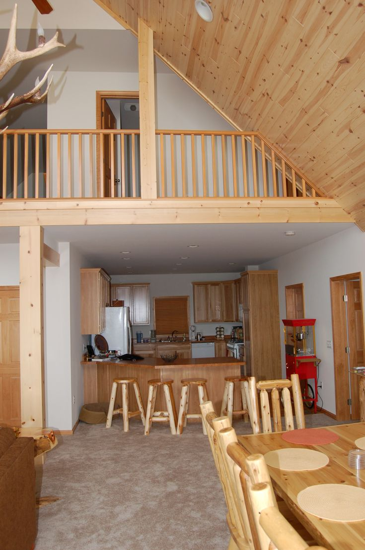 Interior Photo Of Chalet Style Modular Home With Tru Vault