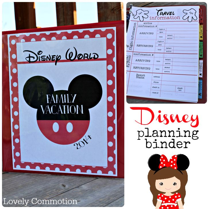 Disney planning binder – tons of great printables for planning your trip to Disney!