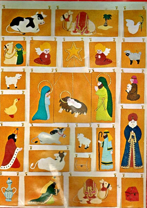Bucilla Nativity Advent Calendar Jeweled Felt Days Til