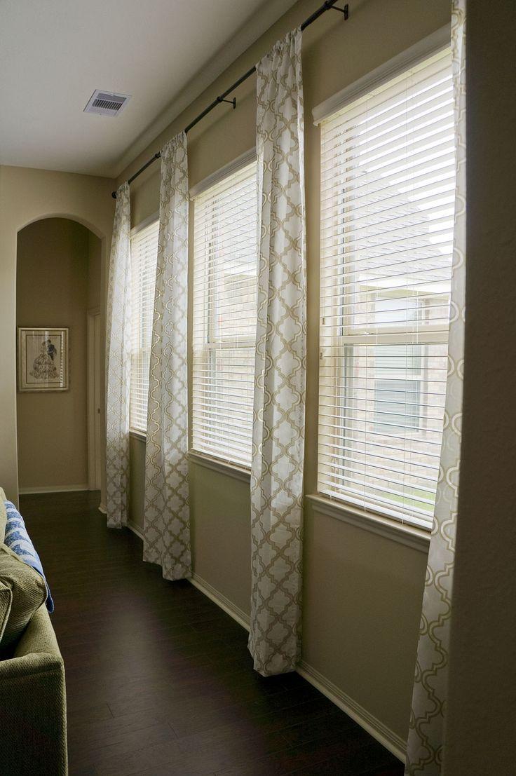 Triple Window Treatment Ideas Living Room Pinterest Window Treatments Shades And Love
