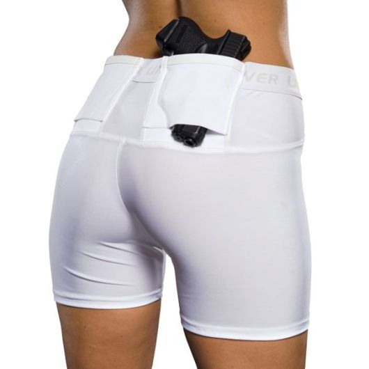 Trying out a new way to carry concealed: CCW Undertech concealment & compression shorts. We'll see how they work out.