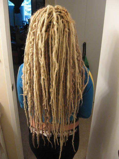Extra Long Blonde DE Synth Dreads With Some Wave Fake
