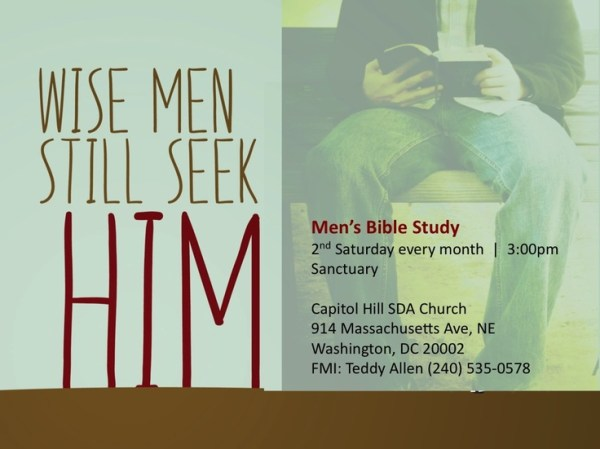 Mens Bible Study-CHC. 2nd Saturday each month @ 3:00pm ...