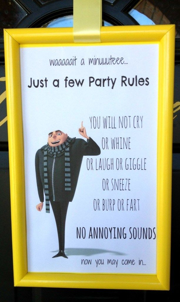 Mads Despicable Me Party |