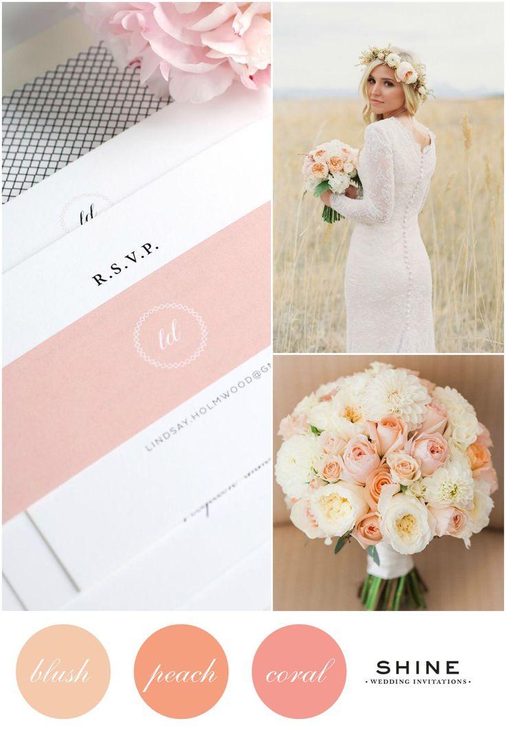 peach and blush wedding | deweddingjpg.com
