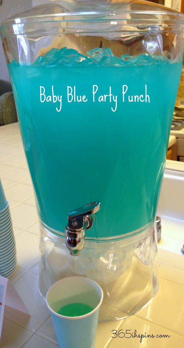 Pink Punch Amp Blue Punch Easy Baby Shower Recipes Blue