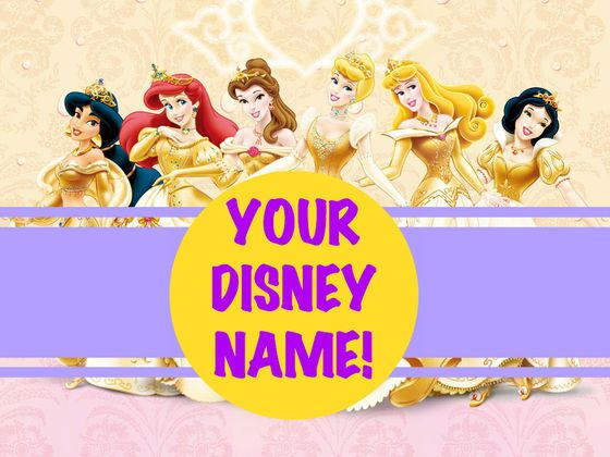 What's Your Disney Princess Name? Your name is Belle! Like the Disney princess, you love to read, venture out into the unknown,