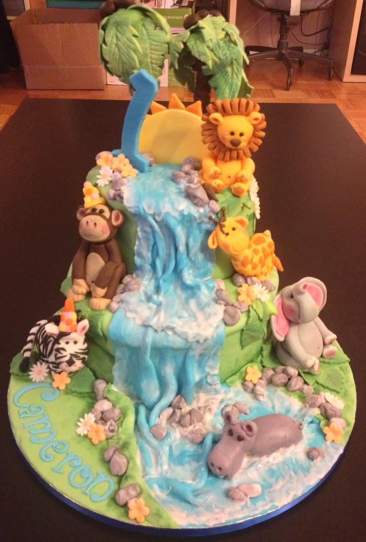 1st Birthday Party Jungle Safari Cake Kids Parties