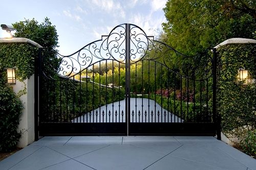 Future Mansion Gate Only With My Initials On The Top