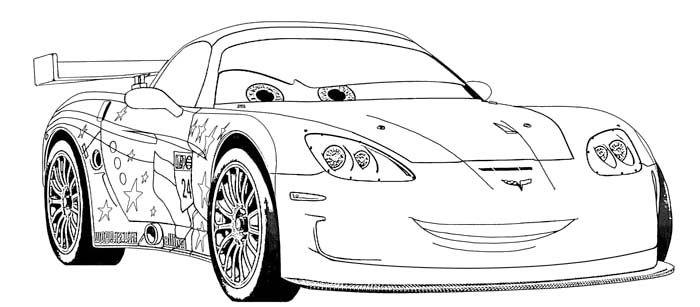 jeff corvette coloring page  corvette car coloring pages