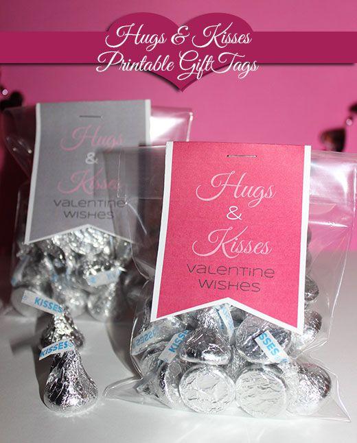 Printable Valentines Day Craft: Hugs & Kisses