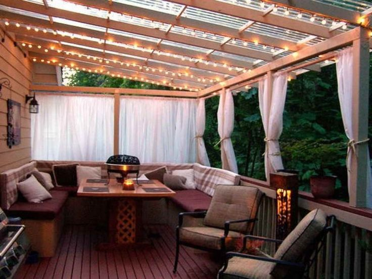 Cheap Patio Cover In Backyard Ideas With Deck : Cool Cozy ... on Cheap Patio Enclosure Ideas  id=61813