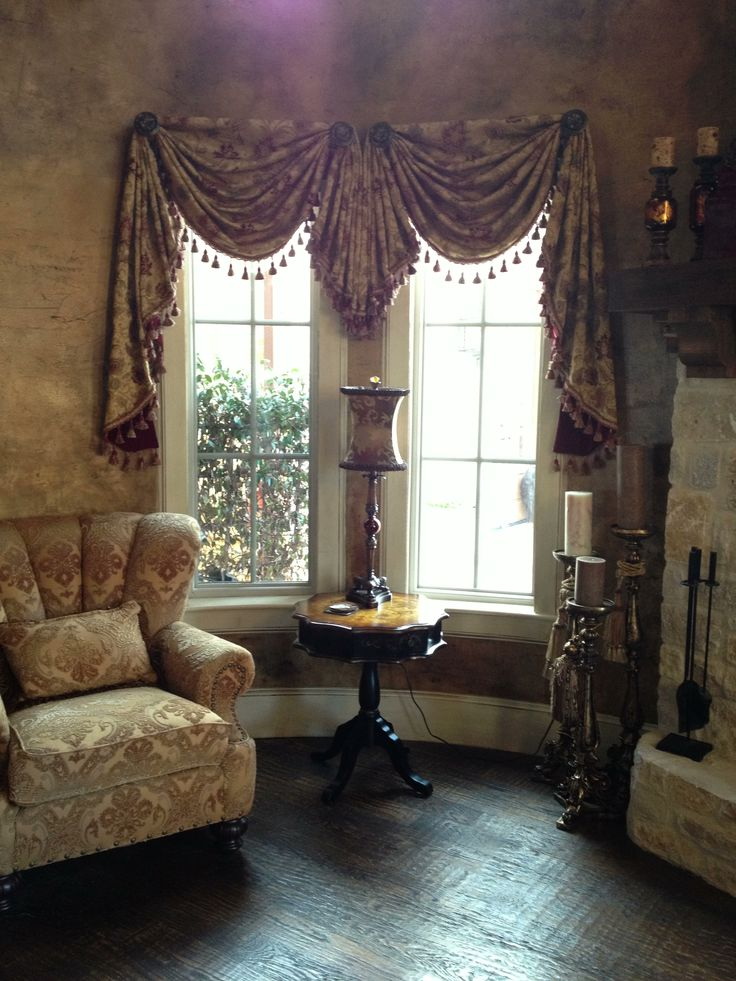 Round Room Swags And Jabot With Tassel Trim Faux