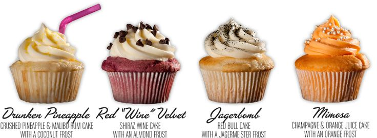 Alcohol Infused Cupcakes!! Drunken Pineapple, Red 'Wine