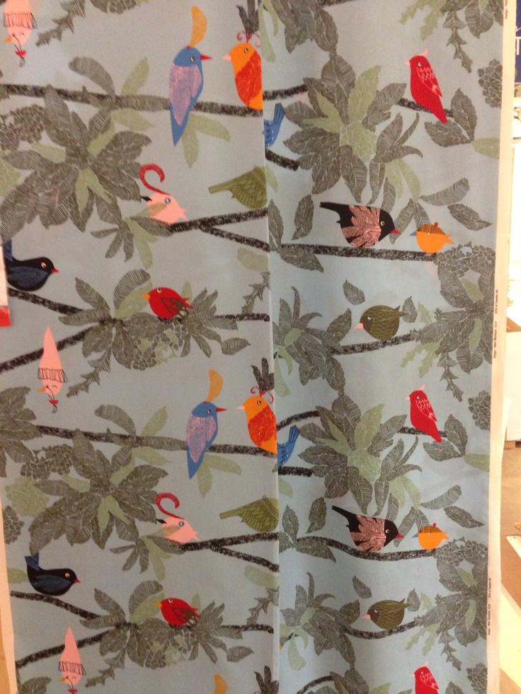 Ikea Bird Print Fabric Birds Pinterest Fabrics Bird Prints And Birds