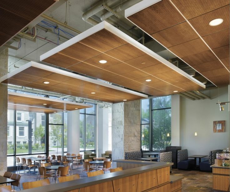 Floating Wood Ceiling Panels Design Commercial Interiors Pinterest Flats Wood Ceilings